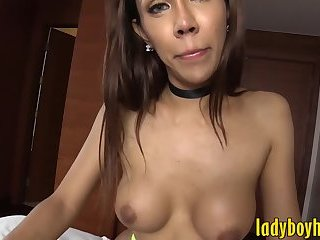 Big tits ladyboy blowjobs and ass fucked