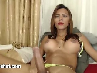 Beautiful latina big cock shemale
