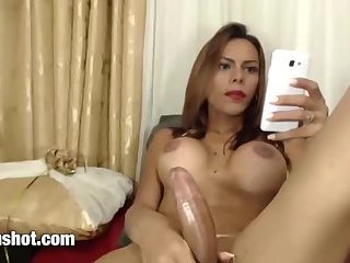 Beautiful latina big cock shemale