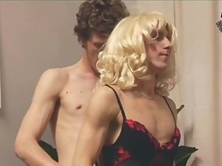 Crossdressers fucked by men