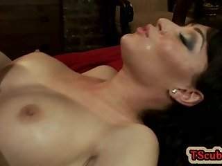 Hot tranny seduction and cumshot