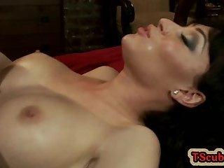 Hot tranny seduction and cumshot