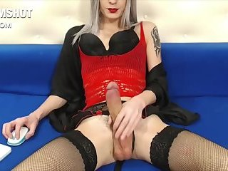 Hung sexy shemale cumshot online