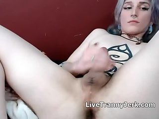 Tattooed Tgirls Xaevynne cum