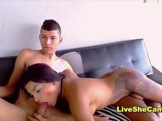 Beautiful shemale ass anal sex
