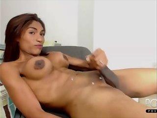 Big tits ebony Shemale cumshot webcam