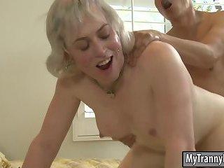 Nasty blonde TS Miss Jane Starr analyzed