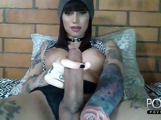 Beauty fat big cock transgirl webcam