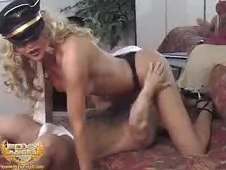 Foxy stewardess
