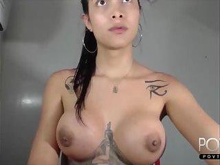 Beauty big tits transgirl