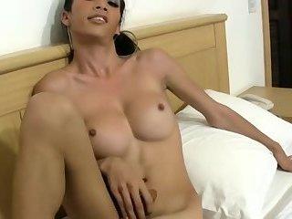 Ladyboy Fucking Her Hairy Tgirl friend