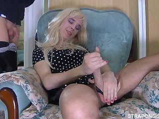 Sissy crossdresser Benjamin fucks BF Randolph with cum in the mouth