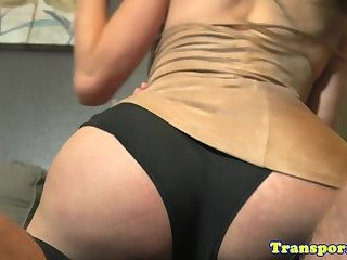Stunning tgirl assfucked in many poses