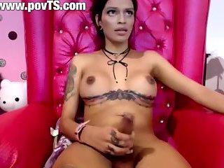 Cute latina Tranny big cock
