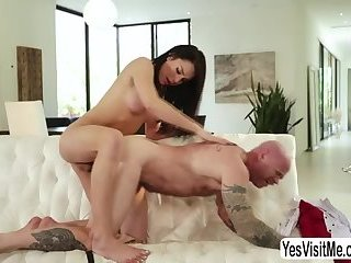 Hot busty TS Chanel Santini eats and fucks transman Buck Angel pussy
