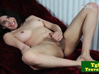 Bigtits trans pornstar shoots her hot jizz