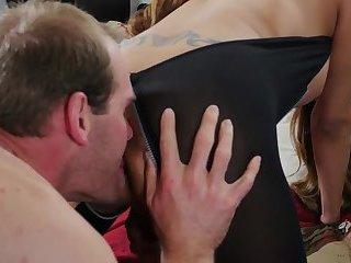 Jessica Fox - Black bodysuit fuck and suck