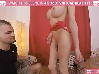 TS VR Porn - Busty TS Kimber Lee Anal fucking with Red Lingerie
