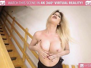 Blonde TS Milf masturbating and ass play