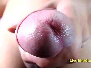 Beautiful big dick latina shemale jerking