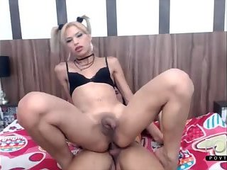Latina shemale couple anal sex on webcam