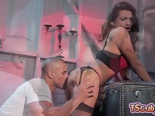 Hot shemale hardcore anal and cumshot