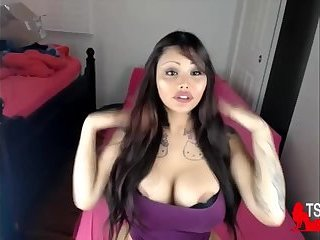 Big boobs ladyboy teasing