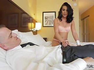 Seductive ts Chanel Santini in an anal fucking scene