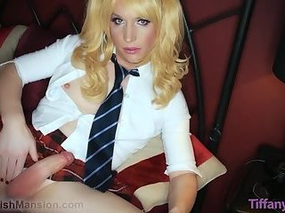 Hot blonde crossdresser sissy