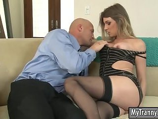 Big boobs TS Angelina Torres anal banged