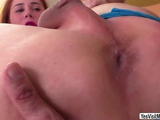 Sexy Brazilian shemale Giselly Soares ass hole finger by horny dude