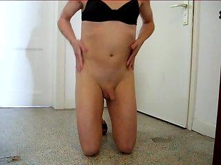 Wanking my sissy cock!