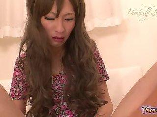 Asian ladyboy hardcore and cumshot