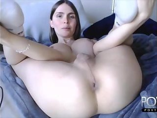 Cute brunette tgirl playing dick