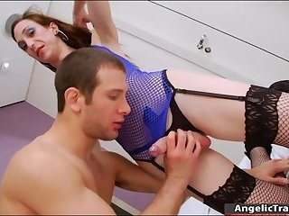 Busty shemale Cintia Simoes anal fucking