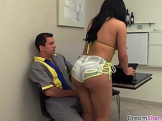 Brazilian Webcam girlwith nice ass getting barebacked hard