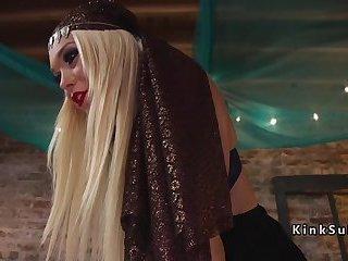 Blonde tranny tarot teller anal bangs client