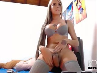 Wonderful blonde latina shemale big dick