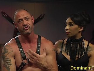 Dominating ebony transgender banging sub hunk