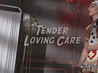 Tranny nurse cures guy with big dick
