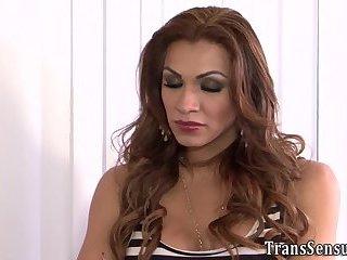 Transgender cutie jizzes