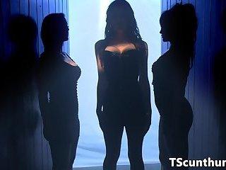 Busty latina TS ass banging inked vixen