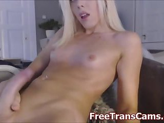 Blonde Tranny Big cock