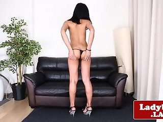 Classy Chaturbate broadcastertugs and strokers her dick