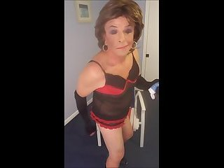 Sissy Roberta cums in chastity