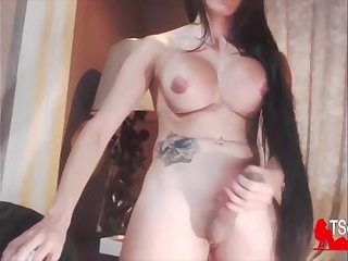 Colombian big titties TS cumshot