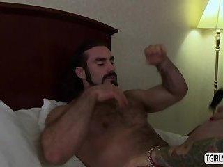 Tsbabe Foxxy rides a big cock for a hard anal fuck