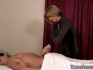 Trans masseuse fucks milf