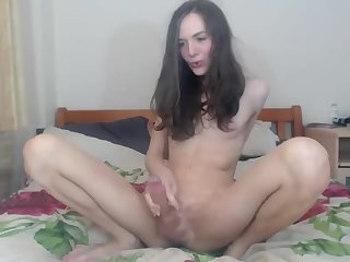 Skinny Sexy Tranny Camshow & Cumming