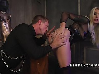 Blonde tranny anal bangs priest in bdsm